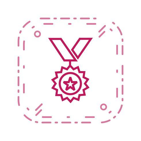 Médaille Icône Vector Illustration