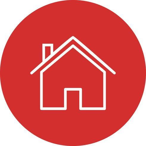 Huis pictogram vectorillustratie