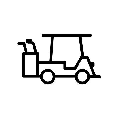vektor golfbil ikon