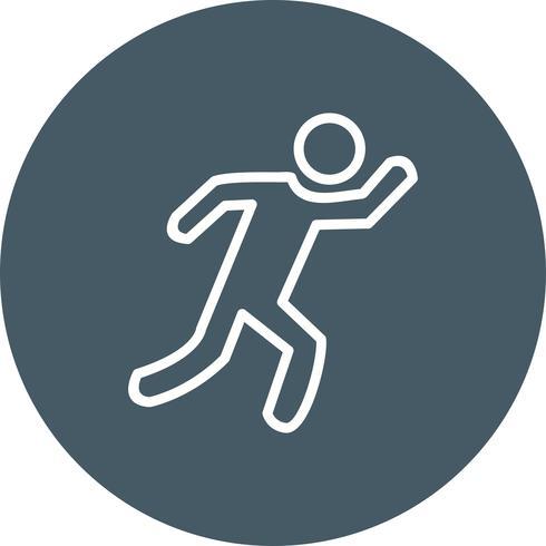 Läufer-Symbol-Vektor-Illustration