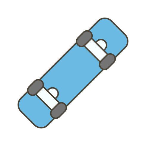 Ícone de placa de skate de vetor