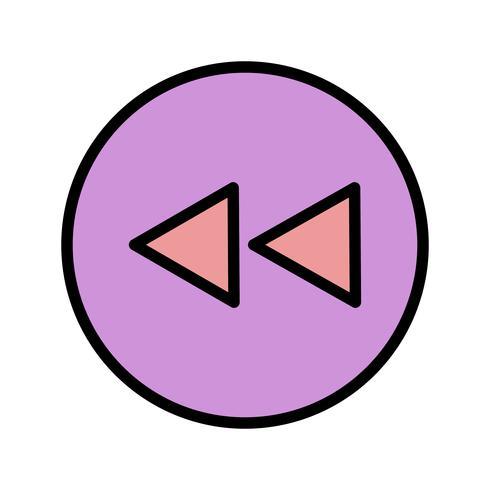 Tillbaka ikon Vektor illustration