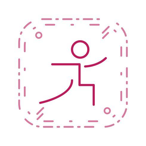 Illustrazione di vettore dell'icona di yoga