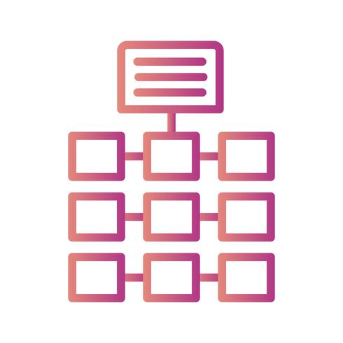 Vector netwerkpictogram