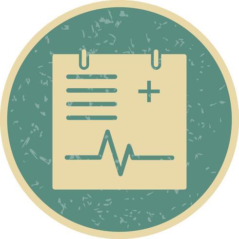 Icône de graphique médical de vecteur