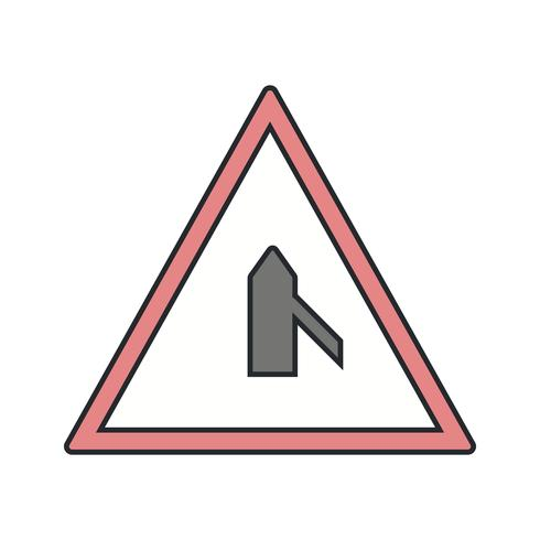 Vecteur mineur route de droite icône de signe de route