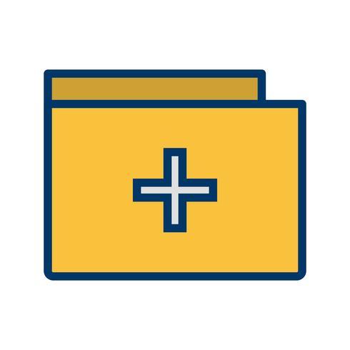 Vector icono de carpeta médica