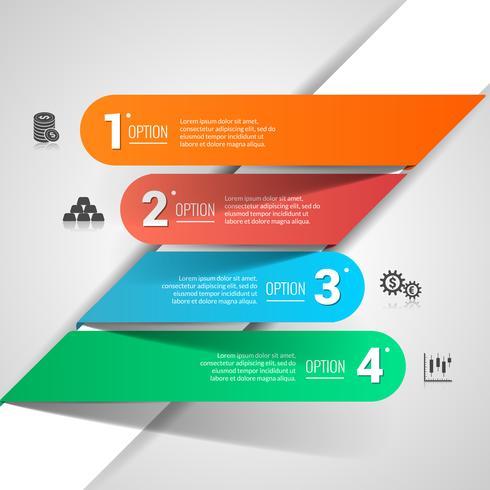 Infografía de finanzas de dinero vector