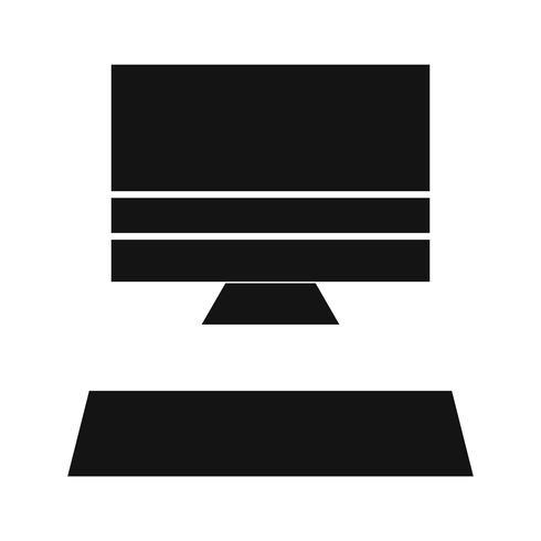 Dator Ikon Vektor Illustration