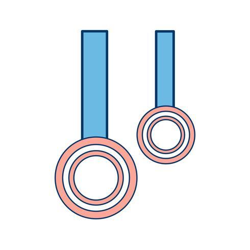 Icono de anillos ilustración vectorial