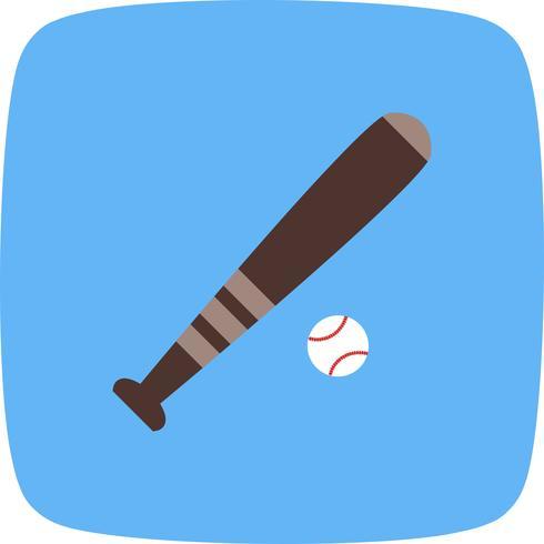Base e bola Icon ilustração vetorial