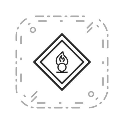 Vector Oxiderende agent Road Sign-pictogram