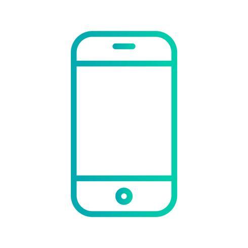 Telefooncel pictogram vectorillustratie