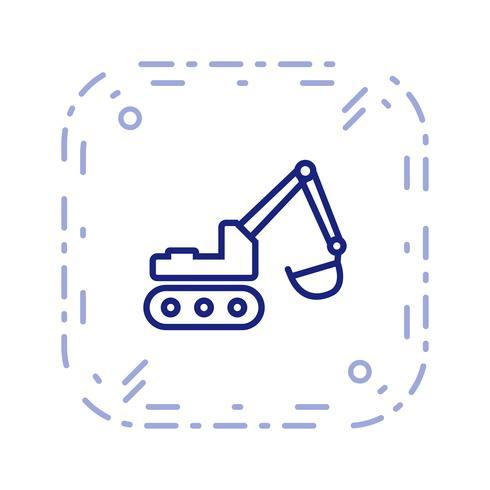 Vector icono de excavadora