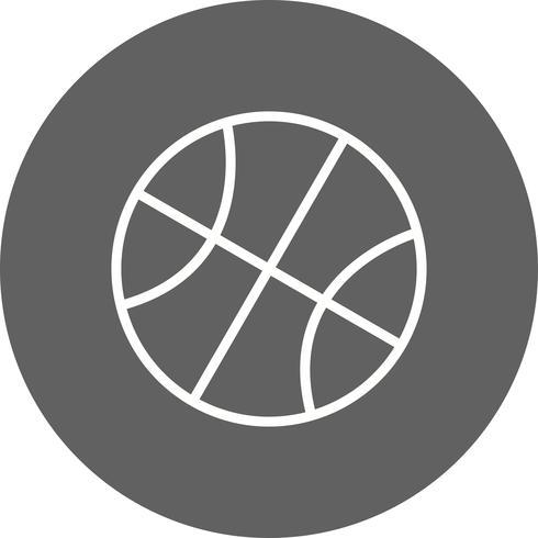 Illustration vectorielle de basket-ball icône