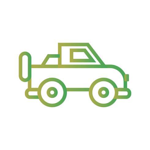 vector jeep pictogram