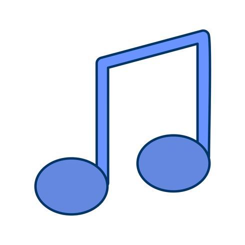 Ilustração do vetor do ícone da nota da música