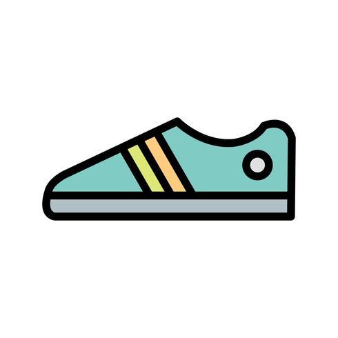 Schoenen pictogram vectorillustratie
