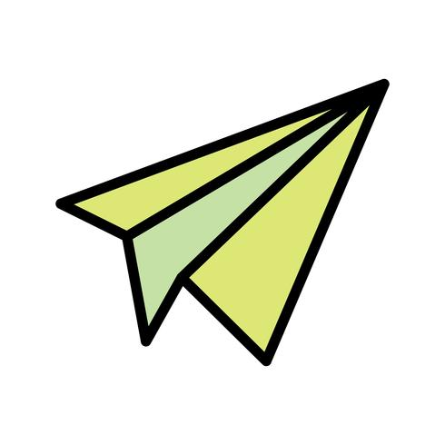 Papieren vliegtuig pictogram vectorillustratie