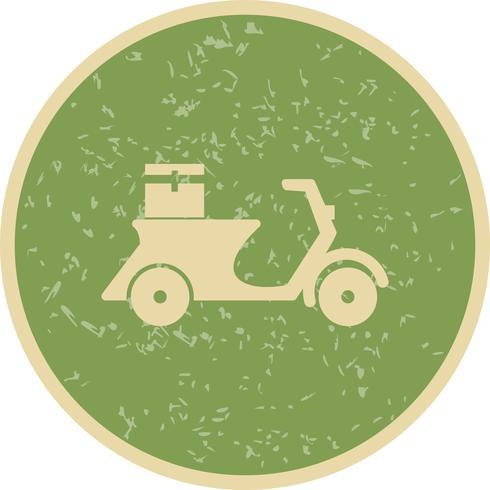 Vector de entrega icono de moto