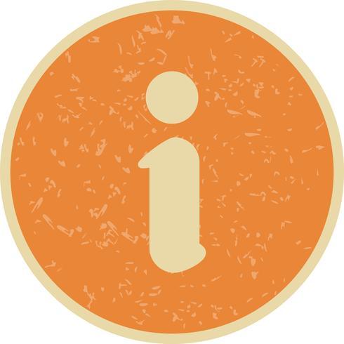 Icona di informazioni vettoriali