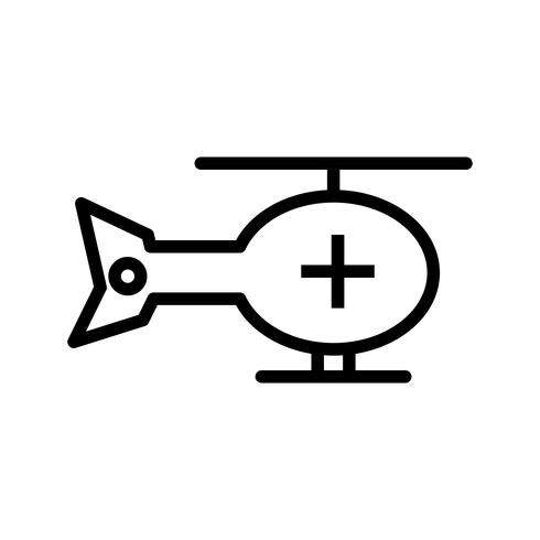 Vector icono de helicóptero