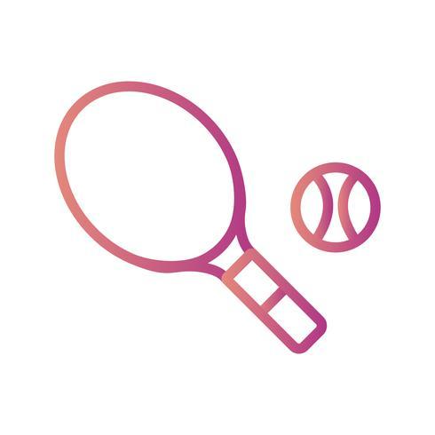 Tennis ikon vektor illustration