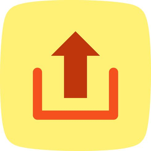 Ladda upp ikon vektor illustration