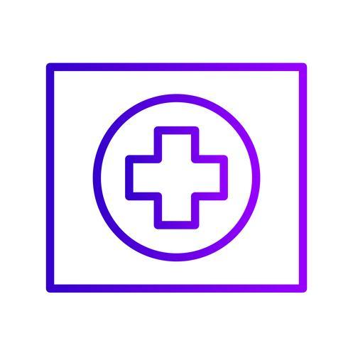 Icône de signe de route hospitalière de vecteur