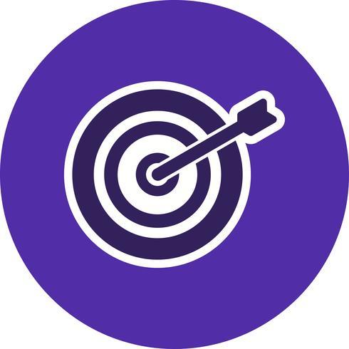 bullseye ikon vektor illustration
