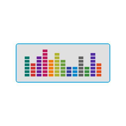 Sound Beats Ikon Vector Illustration