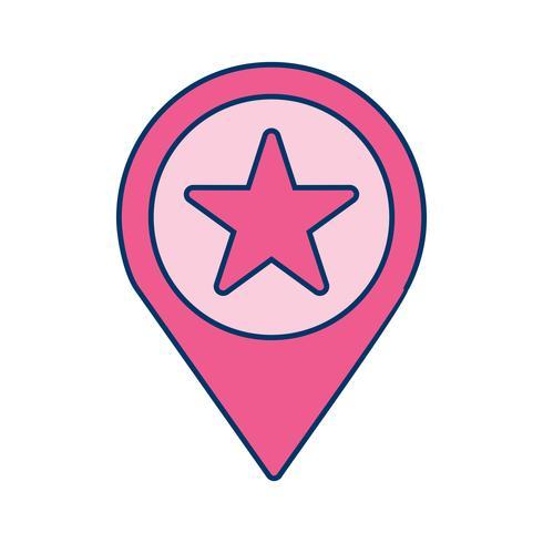 Vector sterpictogram locatie