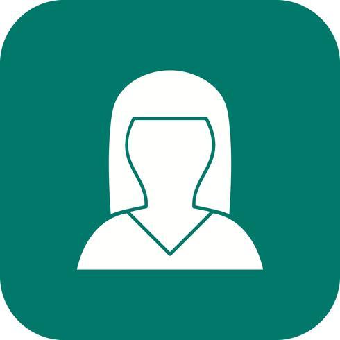Vrouwelijke avatar pictogram vectorillustratie