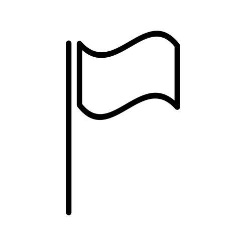 Icône de drapeau de vecteur