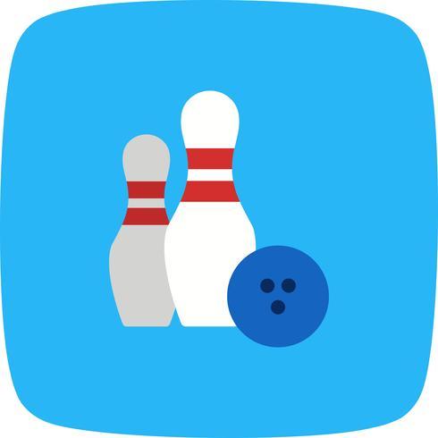 Bowling Ikon Vektor Illustration