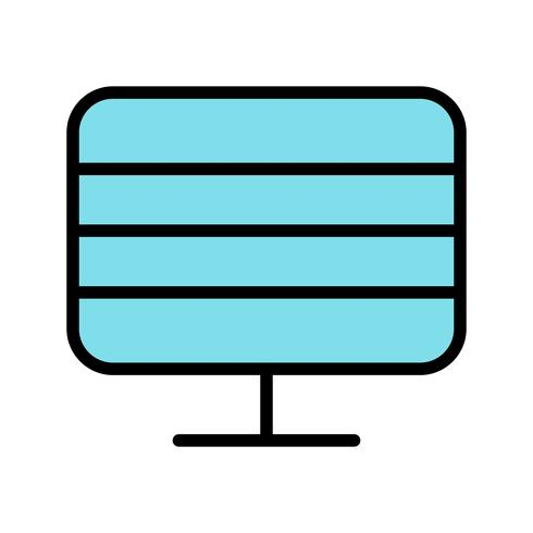 Monitor pictogram vectorillustratie