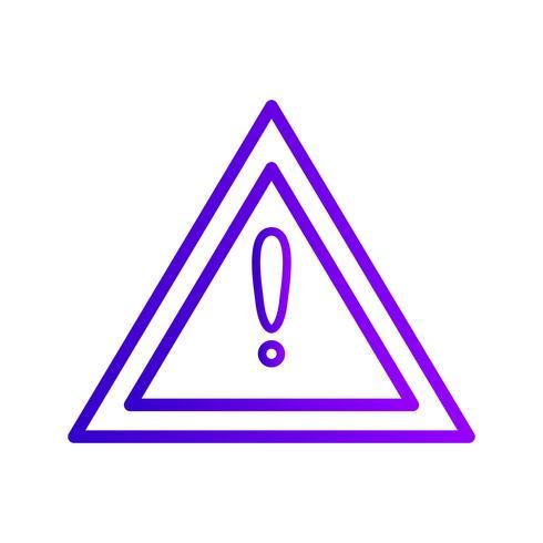 Vektor Andere Gefahren Verkehrsschild-Symbol