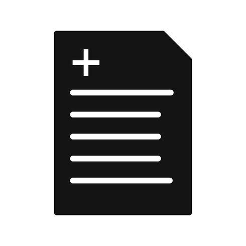 Vector icono de informe