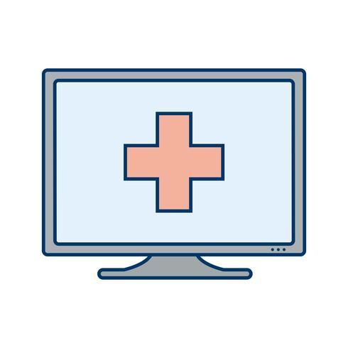 Vector Online medische Help-pictogram
