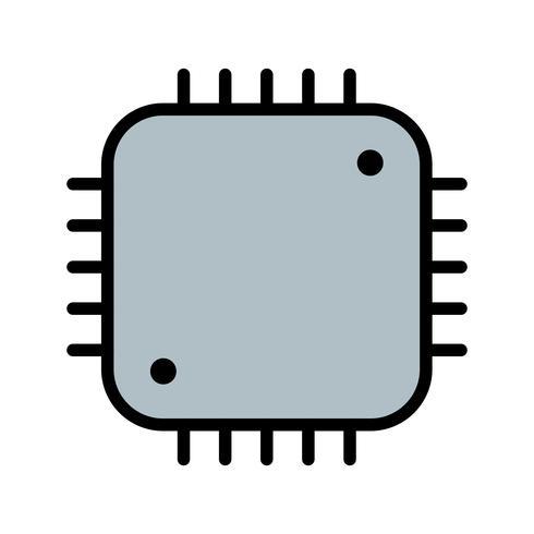 Processor pictogram vectorillustratie