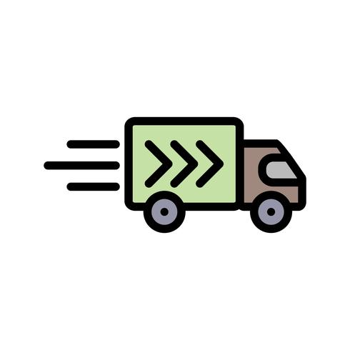 Vector levering vrachtwagen pictogram