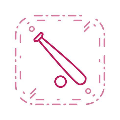 Base e palla icona illustrazione vettoriale