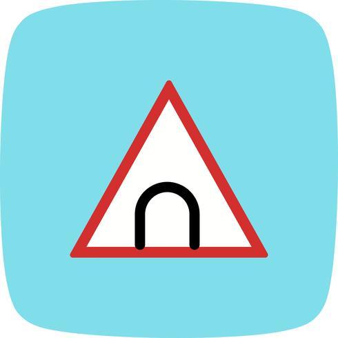 Ícone de sinal de estrada de túnel de vetor