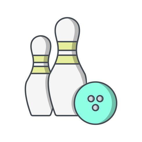 Bowling Icône Vector Illustration