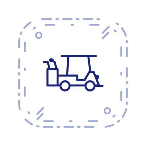 Vector golfkar pictogram
