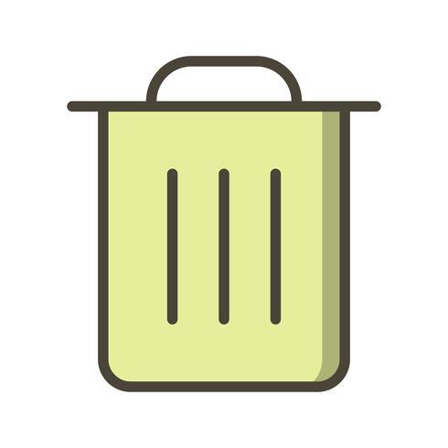 Icono de basura Vector ilustración