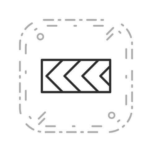 Vector Scherpe afwijking van de route naar links Verkeersbordpictogram