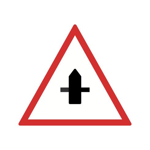 Vectorkleine Cross Road Sign-pictogram