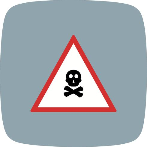 Vector vergif gas verkeersbord pictogram