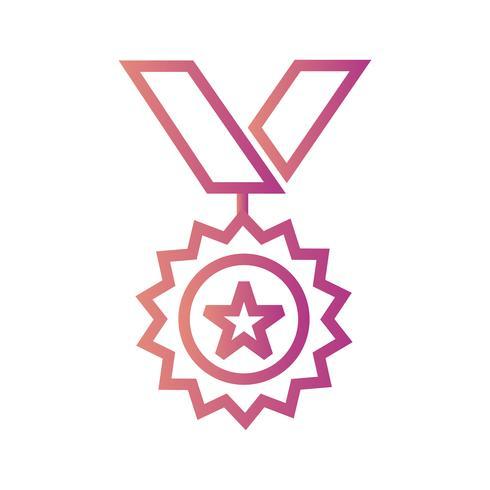 Medalj Ikon Vector Illustration